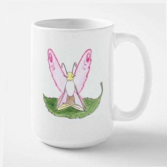 Lotus Pose Butterfly Mugs