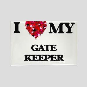 I love my Gate Keeper hearts design Magnets