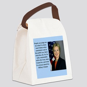 hillary clinton quote Canvas Lunch Bag