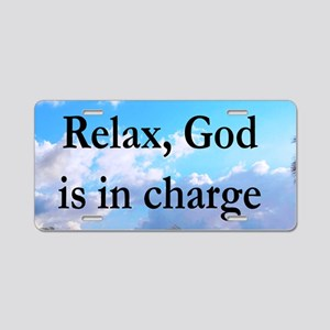 GOD IS IN CHARGE Aluminum License Plate