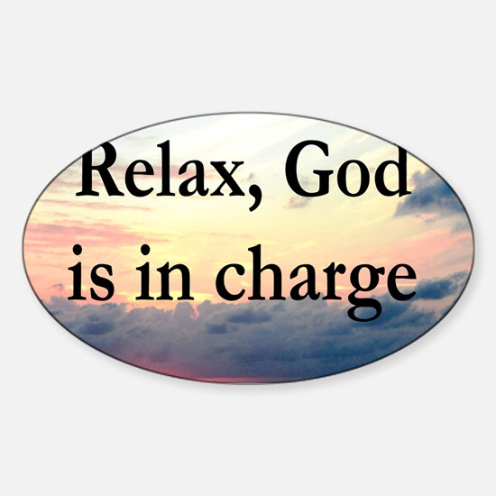 GOD IS IN CHARGE Sticker (Oval)