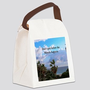 MIRACLES HAPPEN Canvas Lunch Bag