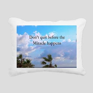 MIRACLES HAPPEN Rectangular Canvas Pillow
