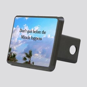 MIRACLES HAPPEN Rectangular Hitch Cover