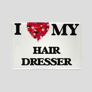 I love my Hair Dresser hearts design Magnets