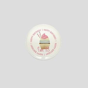 13th Birthday Cupcake Mini Button