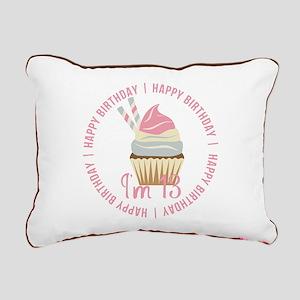 13th Birthday Cupcake Rectangular Canvas Pillow