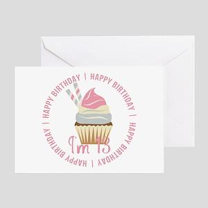 13th Birthday Cupcake Greeting Card