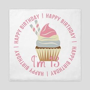 13th Birthday Cupcake Queen Duvet