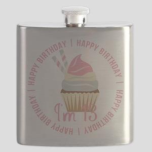 13th Birthday Cupcake Flask