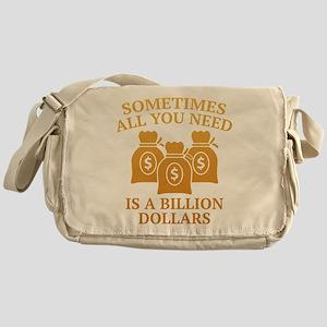 A Billion Dollars Messenger Bag