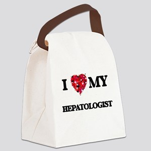 I love my Hepatologist hearts des Canvas Lunch Bag
