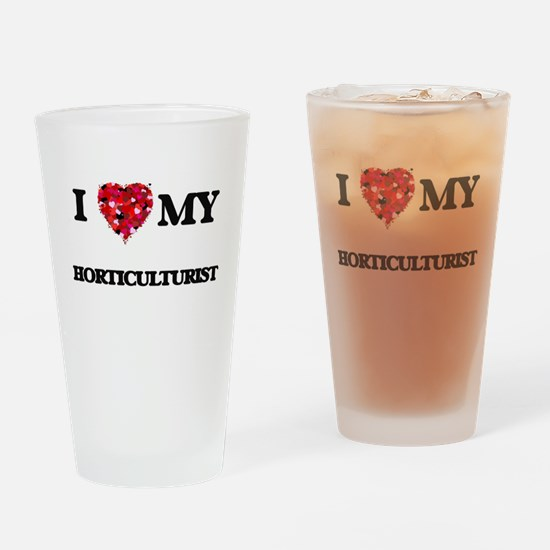 I love my Horticulturist hearts des Drinking Glass
