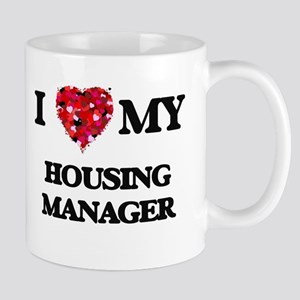 I love my Housing Manager hearts design Mugs