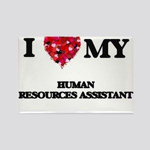 I love my Human Resources Assistant hearts Magnets