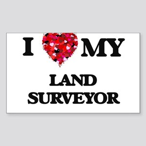 I love my Land Surveyor hearts design Sticker
