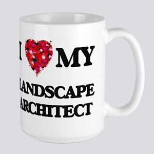 I love my Landscape Architect hearts design Mugs