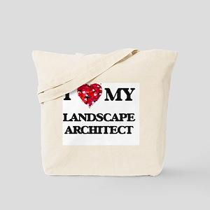 I love my Landscape Architect hearts desi Tote Bag