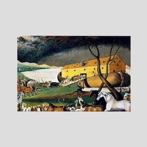 Noah's Ark, painting by Edward Hi Rectangle Magnet