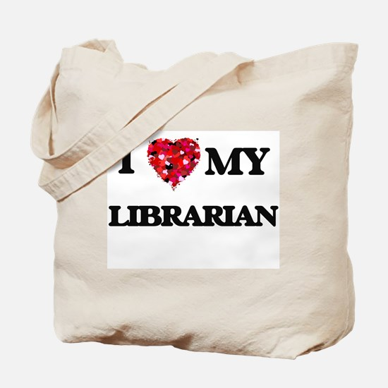 I love my Librarian hearts design Tote Bag