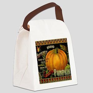 Vintage Fruit Crate Label Canvas Lunch Bag