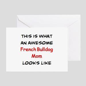 loving french bulldog mom Greeting Card