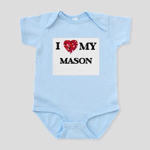 I love my Mason hearts design Body Suit