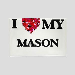 I love my Mason hearts design Magnets