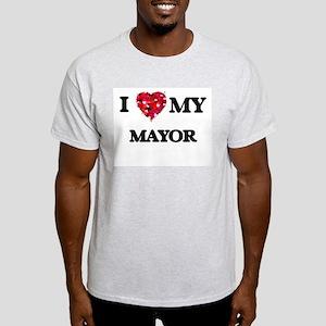 I love my Mayor hearts design T-Shirt