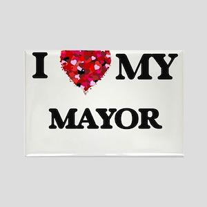 I love my Mayor hearts design Magnets