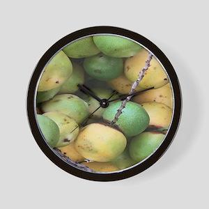 Green Palm Berry Wall Clock
