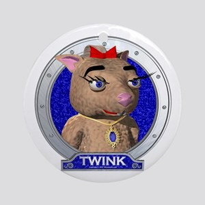 Twink's Blue Portrait Ornament (Round)