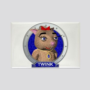 Twink's Blue Portrait Rectangle Magnet