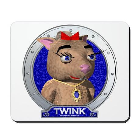 Twink's Blue Portrait Mousepad