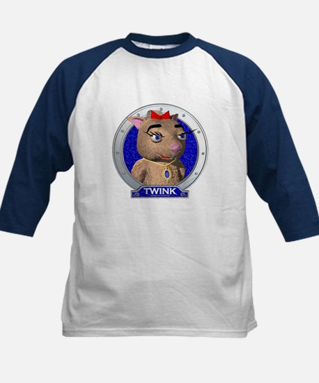 Twink's Blue Portrait Kids Baseball Jersey
