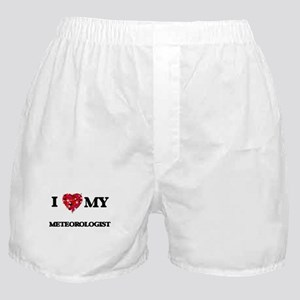 I love my Meteorologist hearts design Boxer Shorts