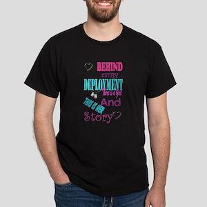 behind every deployment Dark T-Shirt