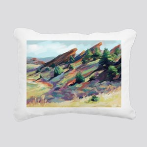 Red Rocks Park Rectangular Canvas Pillow