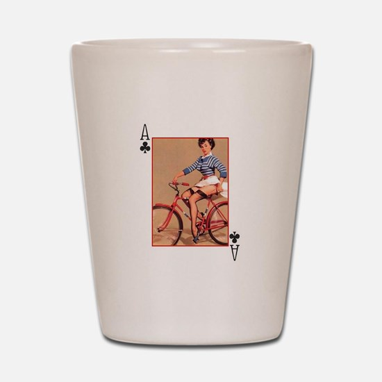 Pin up Ace of Club Shot Glass