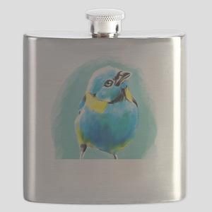 Blue Wren Flask