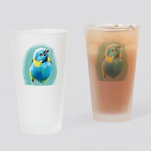 Blue Wren Drinking Glass