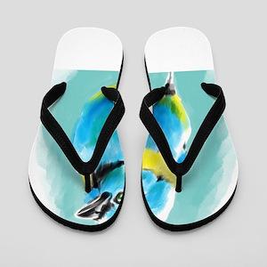 Blue Wren Flip Flops