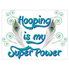 Hula Hooping is My Super Power Framed Print