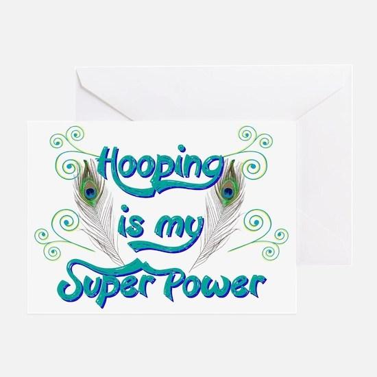 Hula Hooping is My Super Power Greeting Card
