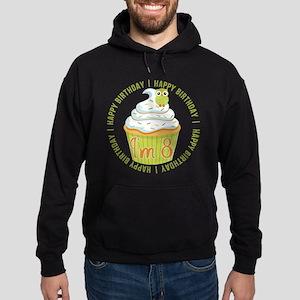 8th Birthday Cupcake Hoodie (dark)