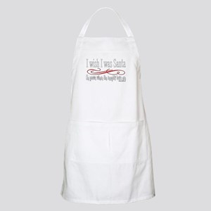 I Wish I Was Santa Claus BBQ Apron