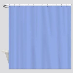 Solid Light Blue Shower Curtain