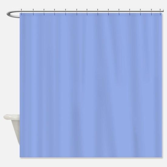 Solid Light Blue Shower Curtain