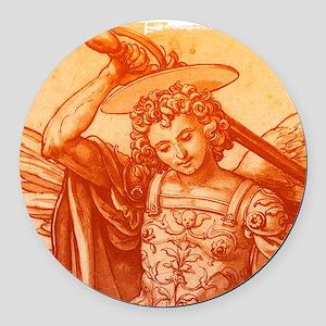 St. Michael Prayer in Latin Round Car Magnet