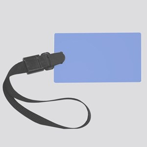 Solid Light Blue Large Luggage Tag